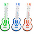 Stock Photo: Guitar Thermometers