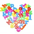 Alphabets Arranged in Heart Shape — Stock Photo