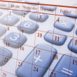 Calculator and Calendar — Stock Photo