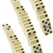 Lines of Dominoes — Foto de Stock