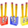 Pencils and Sharpeners — Stock Photo #3217470