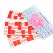 Bingo Forms and Gaming Chips — Stock Photo