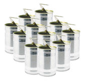 Ringpull Tin Cans — Stock Photo
