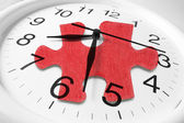 Clock and Jigsaw Puzzle — Stock Photo