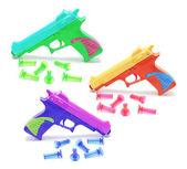 Armas de juguete con balas de goma — Foto de Stock