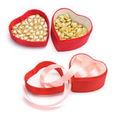 Heart-shaped Gift Boxes — Stock Photo
