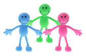 Smiley Rubber Figures — Stock Photo