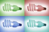Fluorescent Bulbs — Foto de Stock