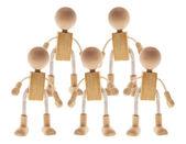 Wooden Children Figures — Stock Photo
