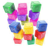 Plastic Alphabet Cubes — Stock Photo