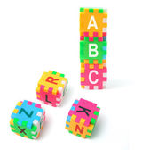Alphabet Puzzle Cubes — Stock Photo