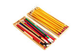 Pencils in Wooden Cases — 图库照片