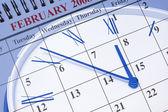 Calendar and Clock — Stock Photo