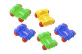 Plastic Toy Cars — Stock Photo