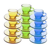 Stacks of Tea Cups and Saucers — Stock Photo