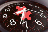 Clock and Jigsaw Puzzles — Stock Photo