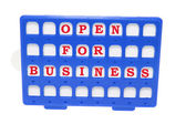 Open for Business Sign — Stock Photo