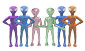Toy Alien Figures — Stock Photo