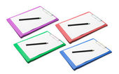 Clipboards with Blank Papers and Pencisl — Stock Photo