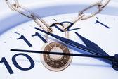 Relógio e fechadura de combinação — Foto Stock