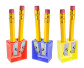 Pencils and Sharpeners — Stock Photo
