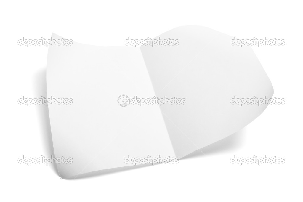Piece of Paper on Isolated White Background  Stock Photo #3213560