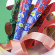 Party Novelties in Gift Box - Stock Photo
