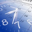 Foto Stock: Calendar and Clock