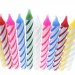 Row of Birthday Candles — 图库照片