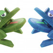 Wooden Frogs — Stock Photo