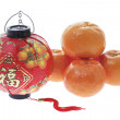 Mandarins and Lantern - Stock Photo