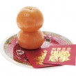 Red Packets and Mandarins — Stock Photo #3259389