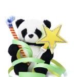 panda de peluche con favores de partido — Foto de Stock