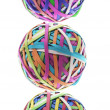 Stack of Rubber Band Balls - Stock Photo