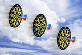 Dart Boards and Cloud — Stock fotografie