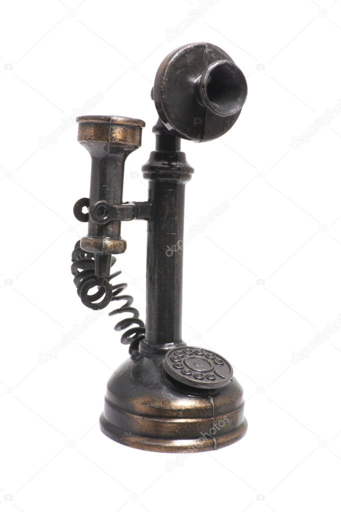 Antique Telephone on Isolated White Background — Stock Photo #3251129