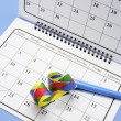 Party Favor and Calendar — Stockfoto