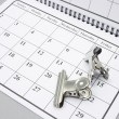 Bulldog Clips on Calendar — Stock Photo #3260104