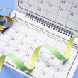 Calendar with Party Favors — Stock Photo