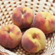 Peaches in Basket — Stock Photo #3260509