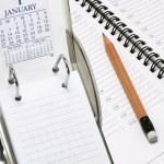 Desk Calendar and Planner — Stock Photo #3264422