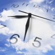 Clock and Cloudy Sky — Stock Photo