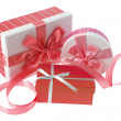 Gift Boxes and Ribbon — Stock Photo