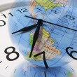 Globe and Clock — Stockfoto