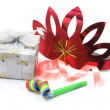Gift Box with Party Favors — Foto Stock