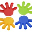 Plastic Toy Hands — Stock Photo #3265112
