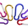 Interlocking Carabiner Hooks — Stock Photo