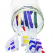Toothbrushes in Glass Jar — Stock Photo