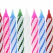 Row of Birthday Candles — Stockfoto
