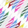 Stock Photo: Row of Birthday Candles